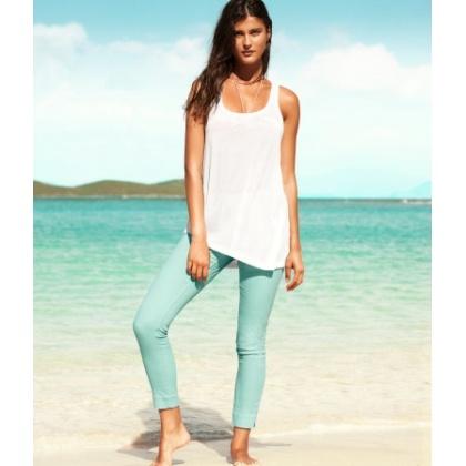 pantalon-slim-denim-jean-vert-amande-h-m-867185867-203682